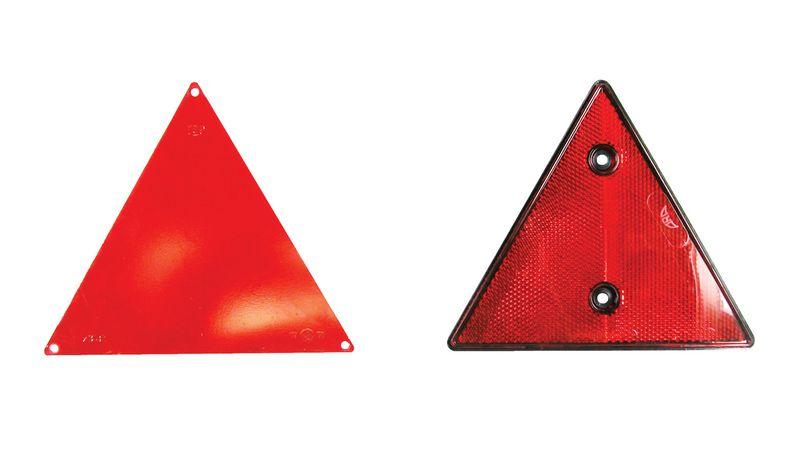 Catadioptre triangle plastique côté 160 mm