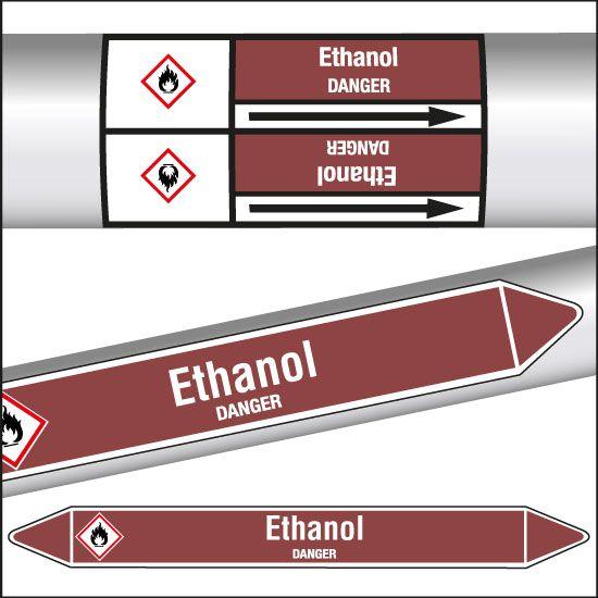 Marqueurs de tuyauterie CLP Ethanol (photo)