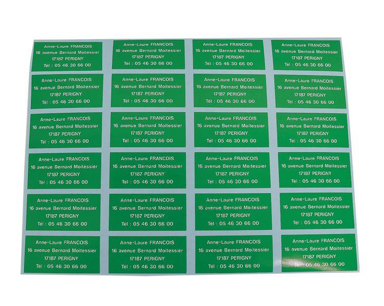Etiquettes en vinyle haute résistance message (photo)