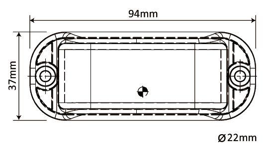 Feu de pénétration 3 LED
