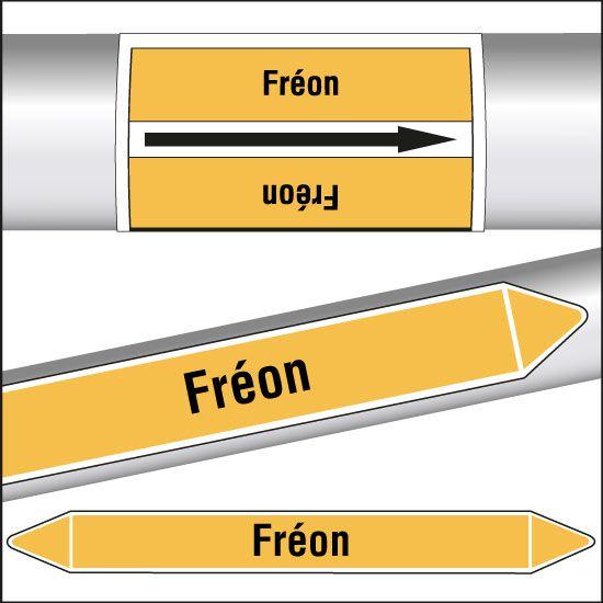 Marqueurs de tuyauterie CLP Fréon