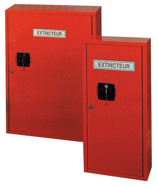Armoires métalliques pour extincteurs