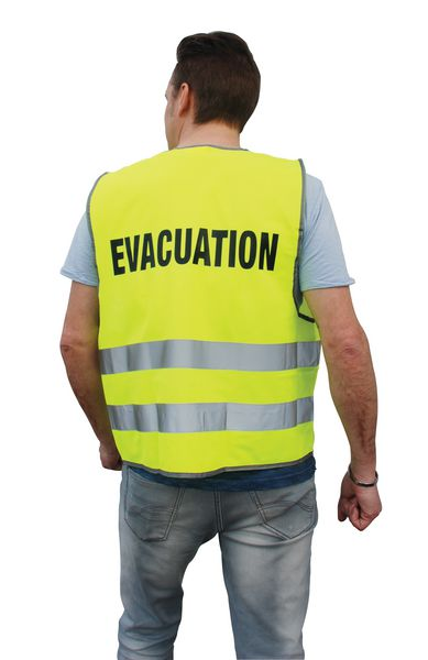 Gilet d'évacuation et brassard jaune fluo