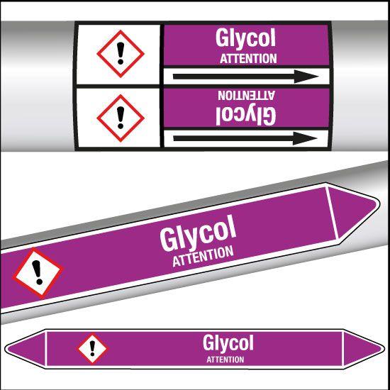 Marqueurs de tuyauterie CLP Glycol