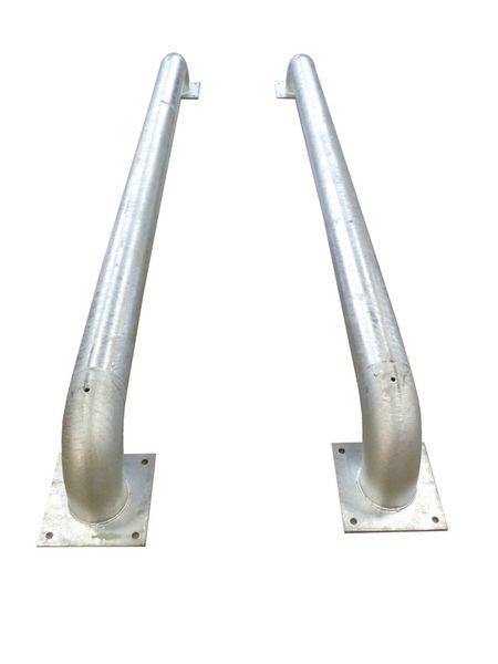 Guide-roues droit ou biseauté en galva (photo)