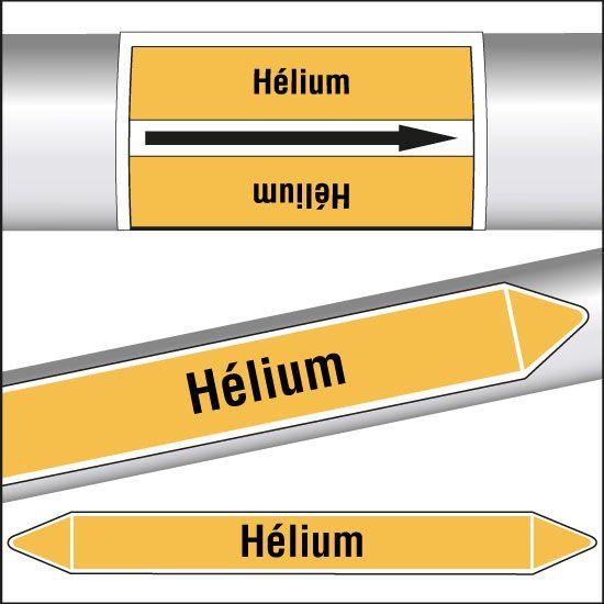 Marqueurs de tuyauterie CLP Hélium