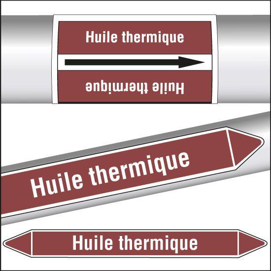 Marqueurs de tuyauterie CLP Huile thermique