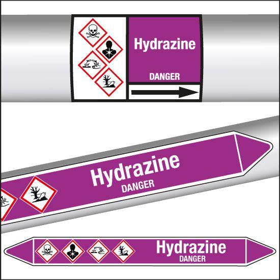 Marqueurs de tuyauterie CLP Hydrazine