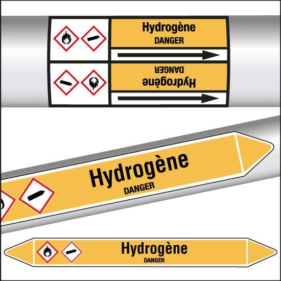 Marqueurs de tuyauterie CLP Hydrogène (photo)