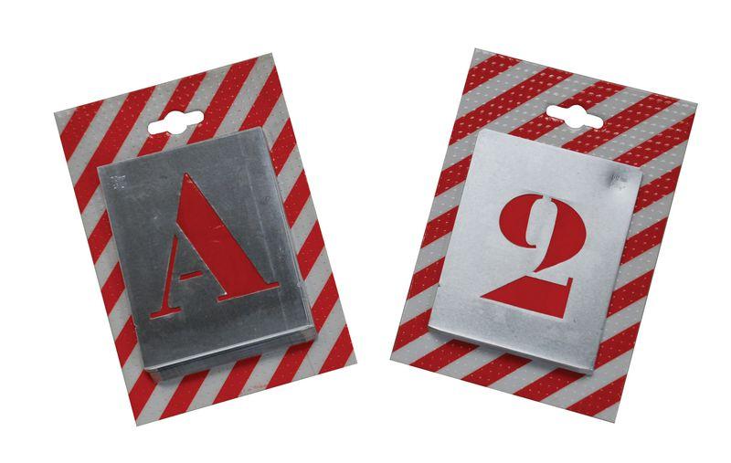 Pochoirs 10 chiffres découpés en métal mince (photo)