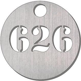 Jetons numérotés en métal ajouré 3 chiffres