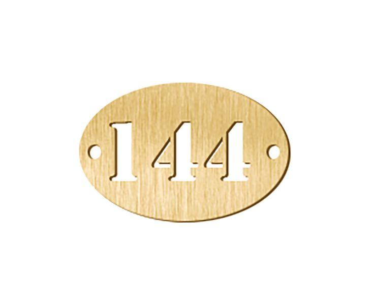 Jetons numérotés en métal ajouré 3 chiffres (photo)