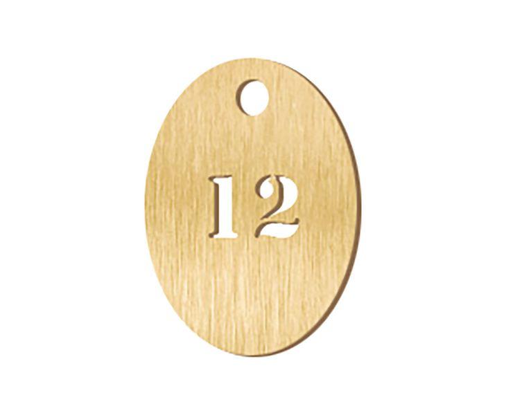 Jetons numérotés en métal ajouré 2 chiffres (photo)