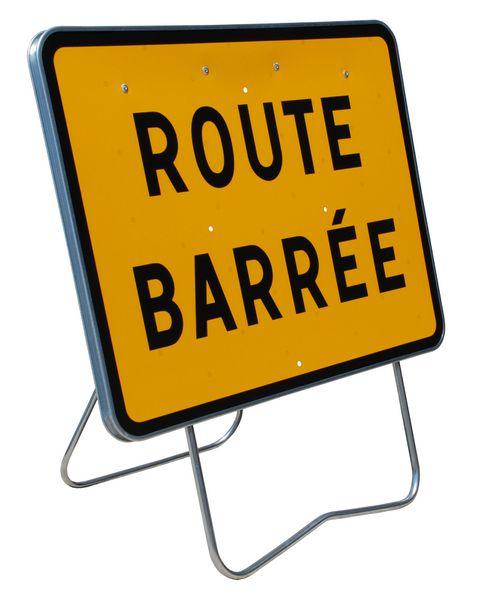 Panneaux Galva Route barrée (photo)