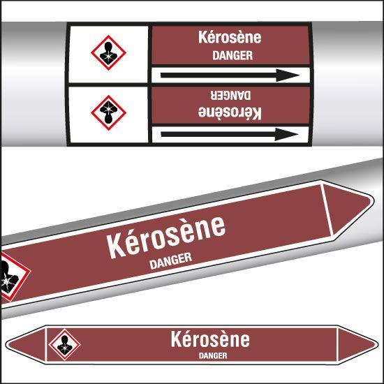 Marqueurs de tuyauterie CLP Kérosène (photo)