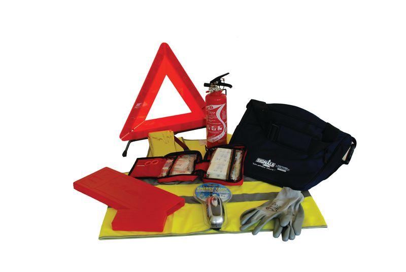 Kit urgence pour véhicule avec accessoires de sécurité (photo)