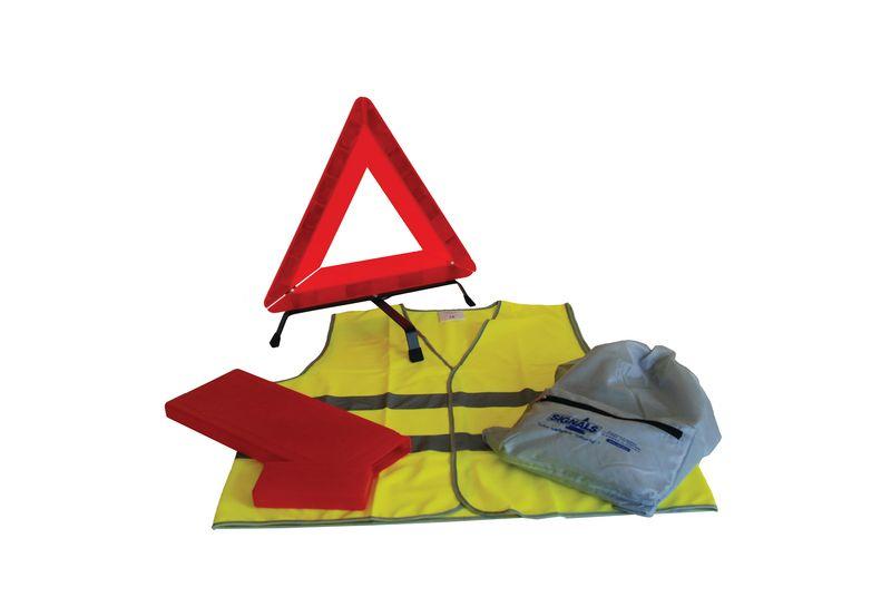 Kit urgence pour véhicule avec accessoires de sécurité
