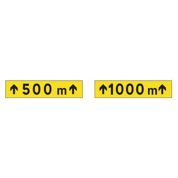 Panonceau pour triangle Mistral Distance et flèches