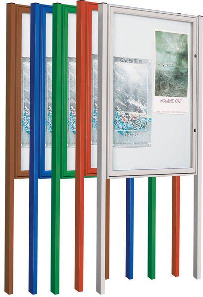 Kit 2 poteaux laqués pour vitrine Tradition (photo)