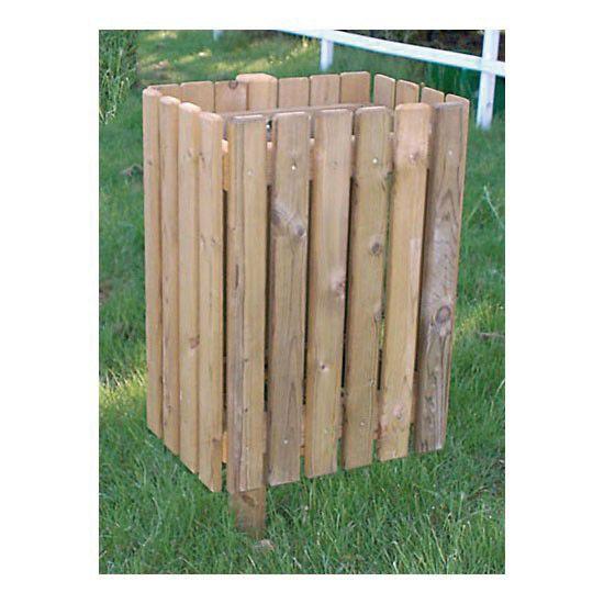 Corbeille en bois rectangulaire