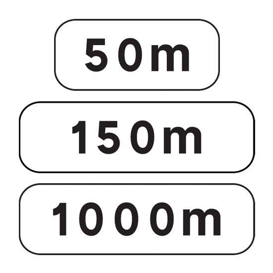 Panonceau complémentaire M1 pour panneau routier type A (photo)