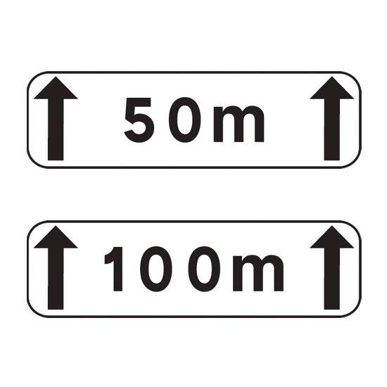 Panonceau complémentaire de signalisation M2 type A (photo)
