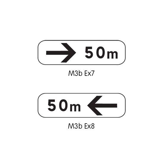 Panonceau complémentaire type B modèle M3 (photo)