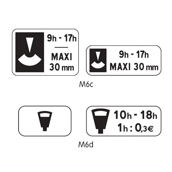 Panonceau complémentaire type B modèle M6 (photo)