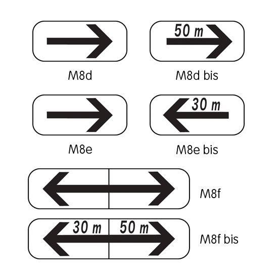 Panonceau complémenaire type B modèle M8 (photo)