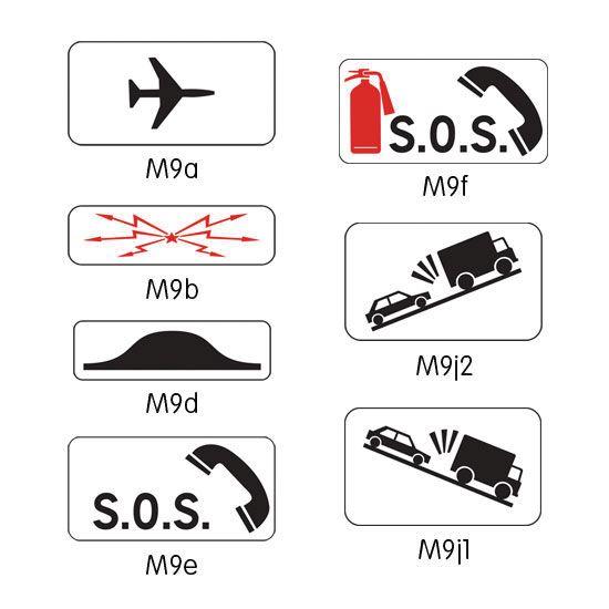 Panonceau complémentaire pour panneau routier modèle M9 (photo)