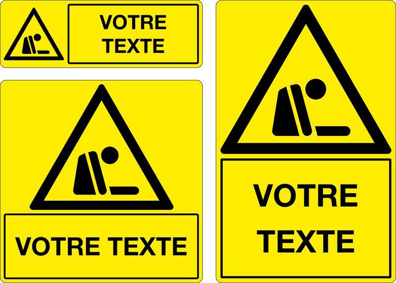 Panneau personnalisé Matières asphyxiantes (photo)