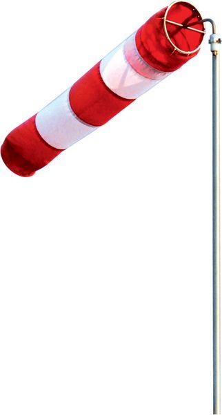 Mât fixe ou basculant 4 m girouette et manche à vent