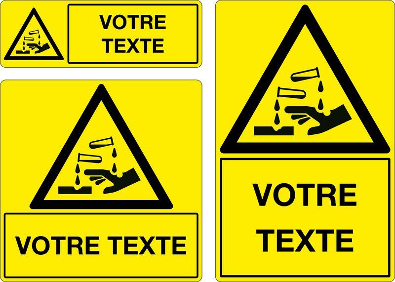 Panneau personnalisé Matière Corrosive (photo)