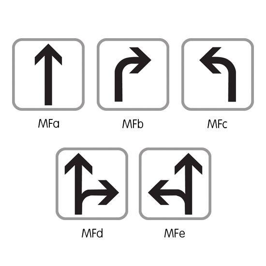 Panonceau complémentaire type C modèle MF (photo)