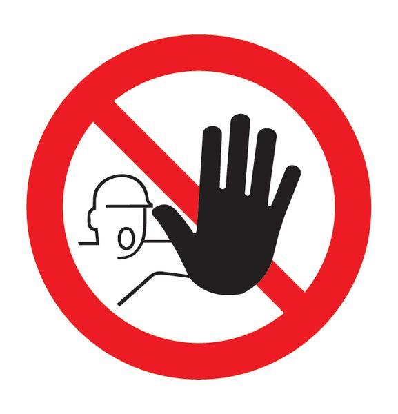 Pictogramme magnétique Accès interdit