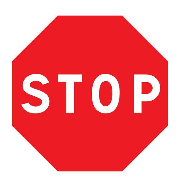Pictogramme magnétique Stop