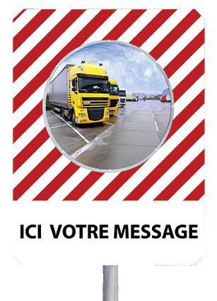 Miroir message de sécurité et prévention (photo)