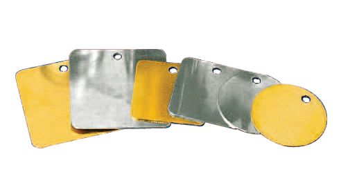 Marqueurs en laiton, aluminium ou inox vierges (photo)