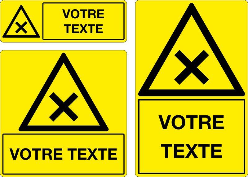 Panneau personnalisé Matières nocives ou irritantes (photo)