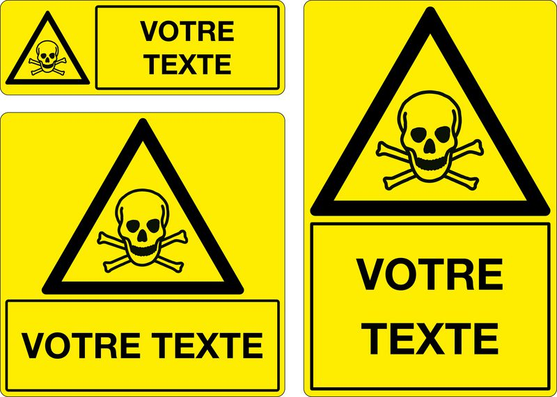 Panneau personnalisé Matières toxiques (photo)