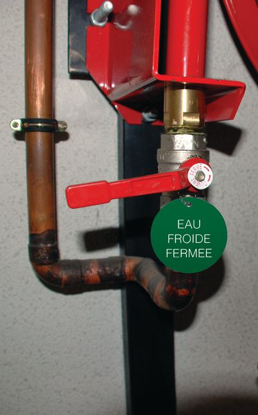 Marqueur de vannes thermoplastique rond