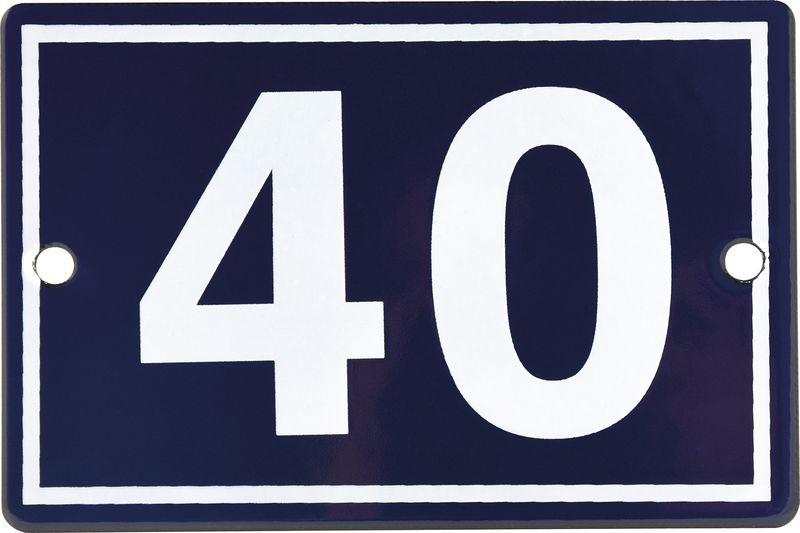 Numéro de maison en plaque émaillée 1 ou 2 chiffres