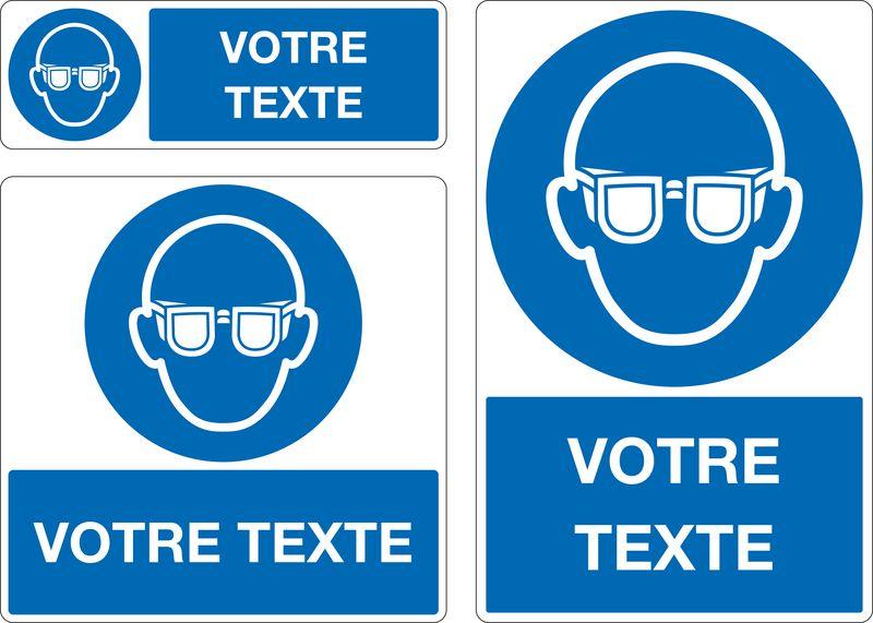 Panneau Port des lunettes obligatoire personnalisé