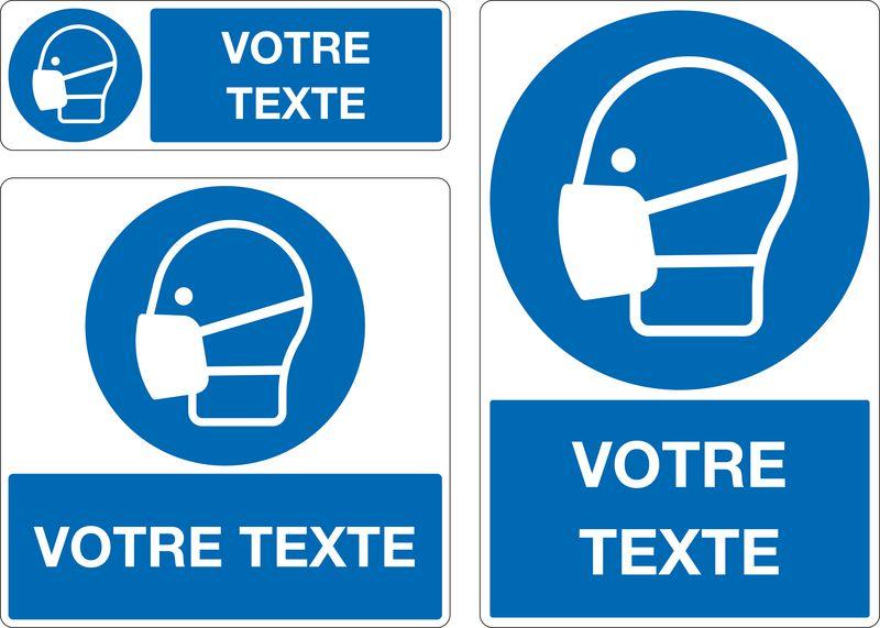 Panneau Port masque anti-poussière oblig. personnalisé (photo)