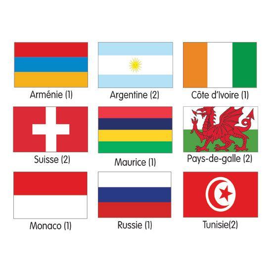 Pavillon tous pays Monde (photo)