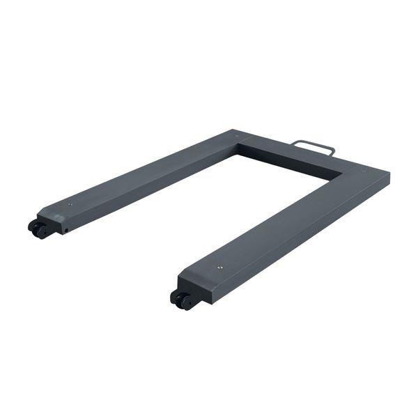 Pèse palettes forme U en acier avec poignée (photo)