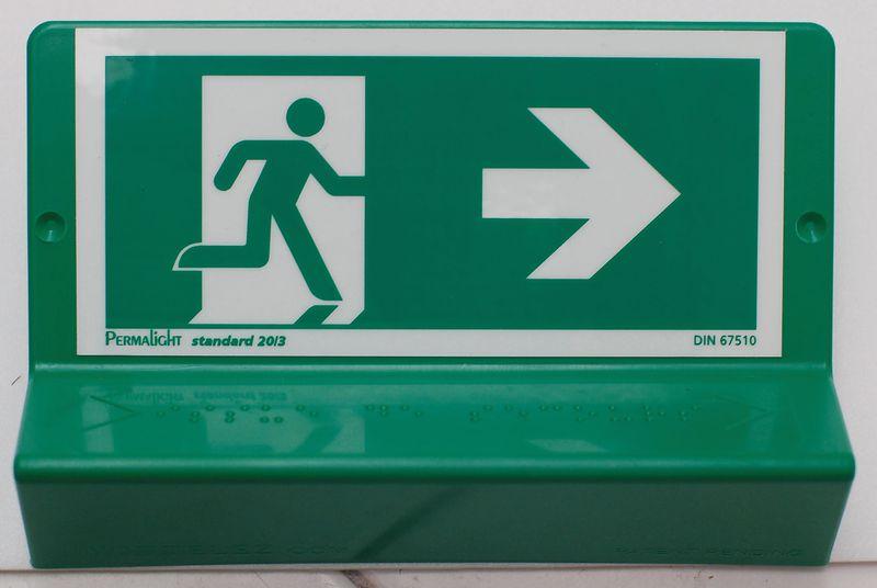 Plaque Braille 3D Défense d'entrer