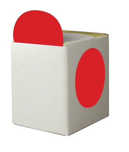 Pastilles en papier adhésif en boîte distributrice