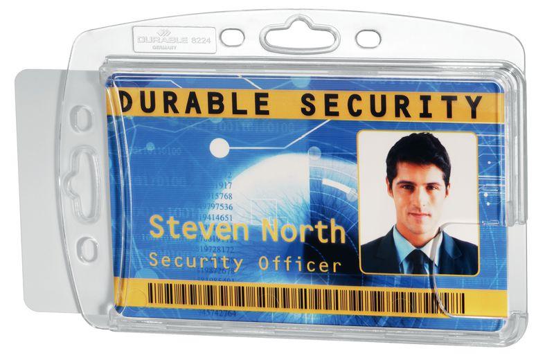 Boîtier rigide porte-badge L 85 x l 54 mm (photo)