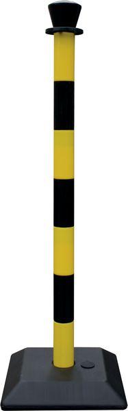 Poteaux sur socle à lester (photo)